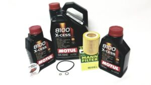 OEM_Oil_Change_Service_Kit_Package for BMW X3 ONE OEM HENGST OIL FILTER AND 7 LITRES OF FULLY SYNTHETIC MOTUL OIL